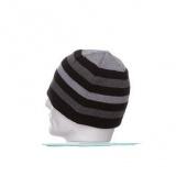 Bonnet h. 100% acryl - noir rayé gris - 50
