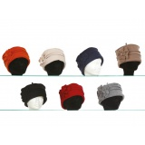 Chapeau polaire polyester lot de 3 assortis - 50
