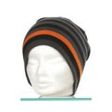 Bonnet mixte 100% acryl t.u gris rayé orange - 50