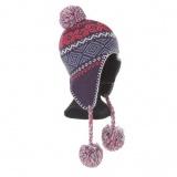 Bonnet péruvien enfant -acryl - violet - 50