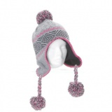Bonnet péruvien enfant -acryl - gris clair - 50