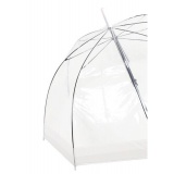 Parapluie canne cloche transparent bord transp. - 50