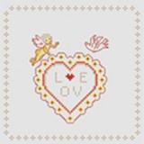 Tableau love (avec perles or) - 55
