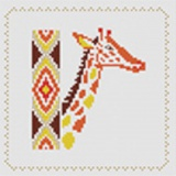 Tableau girafe (avec perles or) - 55