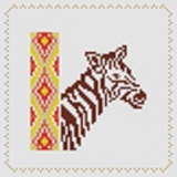 Tableau zebre (avec perles or) - 55