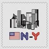 Tableau new-york (avec perles argent) - 55