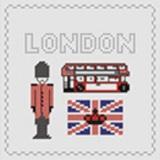 Tableau london (avec perles argent) - 55