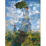 Canevas 50/65 antique La femme a l'ombrelle - 55
