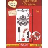 Kit marie coeur 34/55 broderie s/fond imprimé - 55