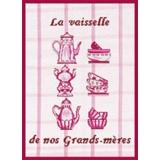Tableau la vaisselle de nos grands-mères (rouge) - 55