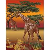 Tableau savane girafes - 55