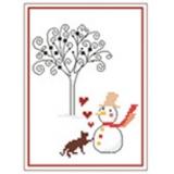 Chaton et bonhomme de neige - 55
