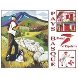 Kit marie coeur toile nattée 45/50 le pays basque - 55