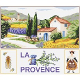 Kit marie coeur toile nattée 45/50 la provence - 55