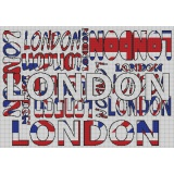 London kit marie coeur toile aïda 55/60 - 55