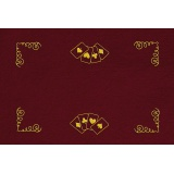 Kit tapis de belote rouge - 55