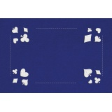 Kit tapis de belote bleu - 55