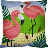 Kit coussin 40/40 Flamants roses - 55