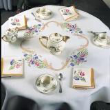 Nappe fil lin blanc 90/90 seule - 55