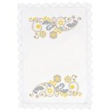 Nappe fil lin blanc 160x160 - 55