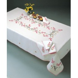 Nappe fil lin blanc 160/300 rectangle - 55