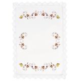 Serviettes 30/30 fil lin blanc - 55