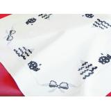 Surnappe brodelia 80/80 coton blanc - 55