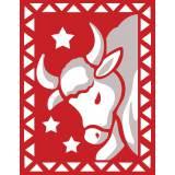 Taureau rouge et blanc - 55