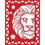 Lion rouge et blanc - 55