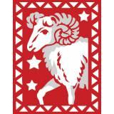Bélier rouge et blanc - 55
