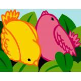 Oiseaux jaune et rose - 55