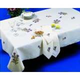 Nappe metis gris rectangle 160/240 - 55