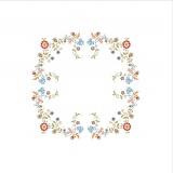 Napperon Brodart coton blanc rond 20 - 55