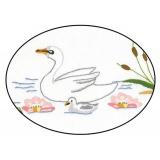 Napperon Brodart coton blanc ovale 20/30 - 55