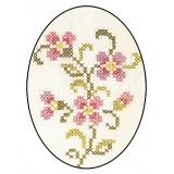 Napperon Brodart coton blanc ovale 30/40 - 55