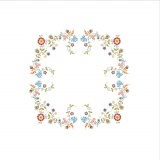 Napperon Brodart coton blanc ovale 40/100 - 55