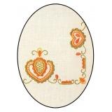 Napperon Brodart coton blanc rectangle 40/60 - 55