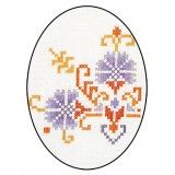 Napperon Brodart coton écru rond 30 - 55