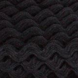 Serpentine coton noir
