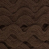 Serpentine coton marron