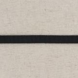 Tissé élastique poly.10mm noir