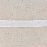 Tissé élastique poly.15mm blanc