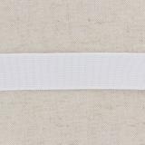 Tissé élastique poly.25mm blanc