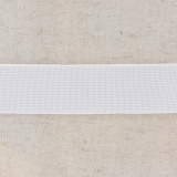 Tissé élastique poly.30mm blanc