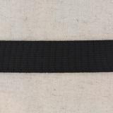 Tissé élastique poly.30mm noir