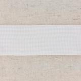 Tissé élastique poly.40mm blanc