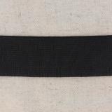 Tissé élastique poly.40mm noir