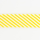 Biais à grosse rayure 36/18 jaune