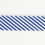 Biais à grosse rayure 36/18 bleu