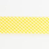 Biais mini vichy 36/18 jaune